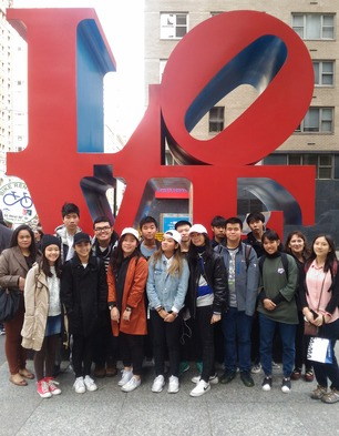 Amnuay Silpa School Educational Visits Love sculpture NYC 2017