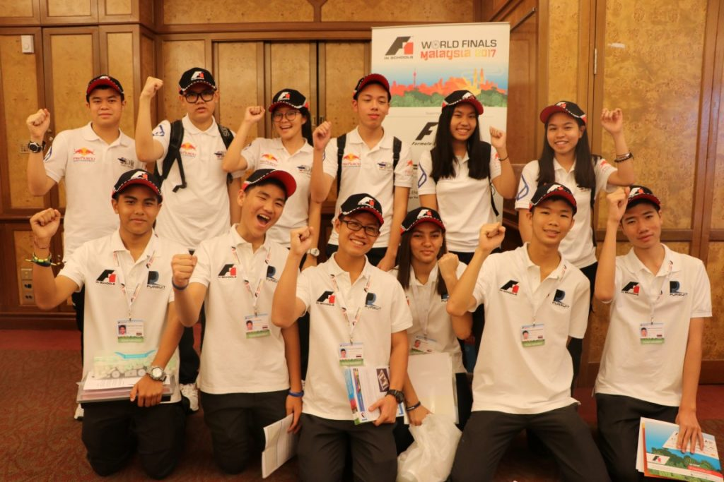 Amnuay Silpa School Teams flying the flag for Thailand at the F1 in Schools final in KL