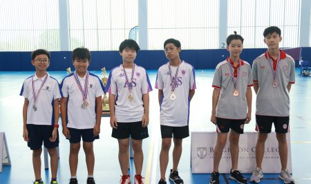 ANS badminton team wins 2nd place at GBAC Badminton tournament hosted by Brighton College.
