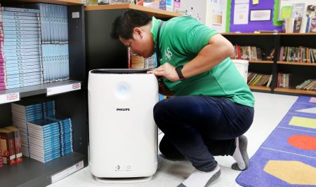 ANS has installed an additional air purifier in every classroom