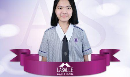 น้ำ กมลทิพย์ (ม.๖) ได้รับคัดเลือกให้เข้าศึกษาต่อที่ LASALLE College of the Arts ประเทศสิงคโปร์
