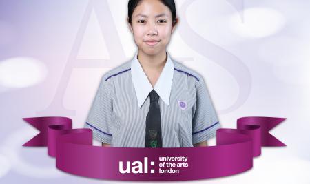 ไหม รมณ (ม.๖) ที่ได้รับคัดเลือกให้เข้าศึกษาต่อที่ University of the arts London ประเทศอังกฤษ