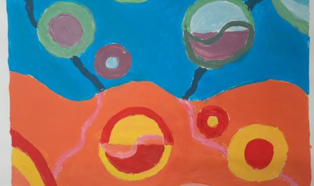 Our Year 7 students have been using warm and cool tones to create artworks.