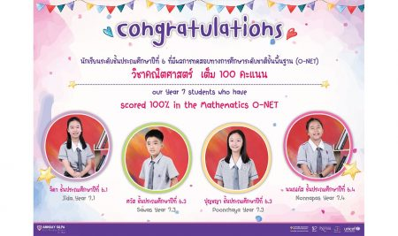 Congratulations to our Y7 students who have scored 100% in the Mathematics O-NET.